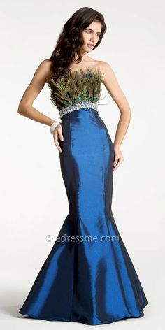 Peacock inspired. #fashion, #dresses, #gowns