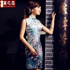 Sensational Blossom Flowers Silk Cheongsam Qipao Dress - Qipao - Cheongsam - Women