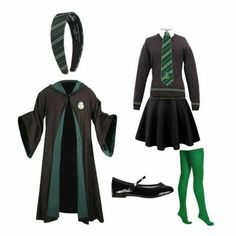 Here is Slytherin Outfit Ideas for you. Slytherin Outfit harry potter slytherin outfits n e r d harry potter. Harry Potter Uniform, Harry Potter Kostüm, Hogwarts Uniform, Harry Potter School, Harry Potter Outfits, Hogwarts Costume, Hogwarts Outfit, Harry Potter Accesorios, Slytherin Clothes