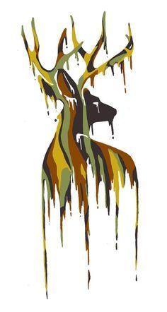 camo deer art