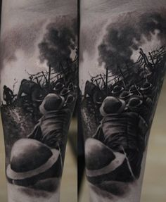 The largest concentration camp was located 50 km from Warsaw and was called Auschwitz. In this camp were killed about million people, mostly Jews. Army Tattoos, Warrior Tattoos, Military Tattoos, Leg Tattoos, Sleeve Tattoos, Tattoos Pics, Tatoos, War Tattoo, Norse Tattoo