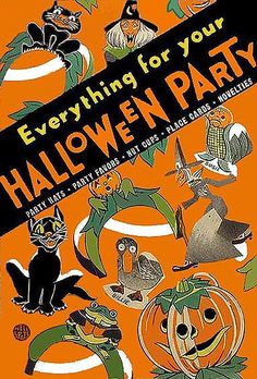 Everything For Your Halloween Party---Vintage Halloween Magazine Cover