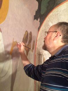 Frescele lui Alexandru Soldatov (Partea a Byzantine Icons, Orthodox Icons, Fresco, Christianity, My Arts, Artist, Byzantine Art, Greece, Contemporary