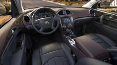 The 2017 Buick Enclave mid-size luxury SUV features premium materials, available leather appointed seating, and warm wood tones.