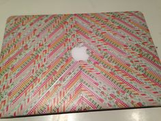 Washi tape laptop cover. Need I say more?