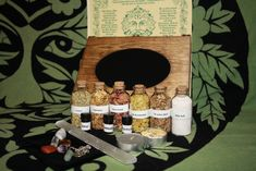 Scrying Herb Box Kit ,Witches Spell Box,Altar Kit,Wiccan Herbs