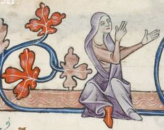 Detail from The Luttrell Psalter, British Library Add MS 42130 (medieval manuscript,1325-1340), f68r