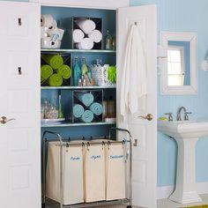 Как у вас сложены полотенца в ванной?