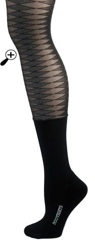 Bootights...tights with an attached sock on the bottom; perfect for wearing with boots and keeping your feet warm!