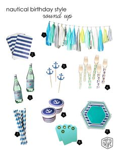 Nautical birthday style round up via momsbestnetwork.com
