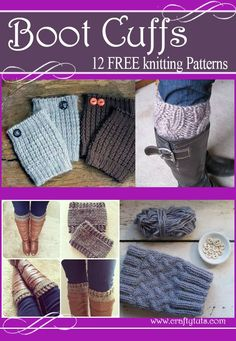 List of free knitting patterns to create boot cuffs or also known as boot toppers. Great for fall and winter. Loom Knitting, Knitting Socks, Knitting Patterns Free, Knit Patterns, Free Knitting, Free Pattern, Knit Socks, Sewing Patterns, Knitting Stitches