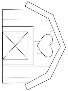 Free Printable Barn Templates  Barn coloring pages This is your