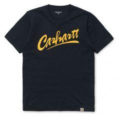 Carhartt S/S Brush T-Shirt Navy Yellow