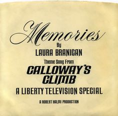 """7"""" Single on 45cat: Laura Branigan - Theme Song From Calloway's Climb - [none] - USA"""