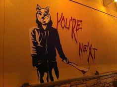 You're Next Graffiti Art: Is Banksy at Fantastic Fest?