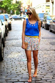 floral shorts, french connection, soho shopping