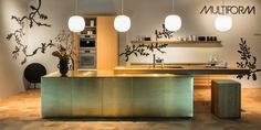 Form 45 // Brass kitchen from @interieurbe 2016 by Multiform