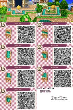 Animal Crossing New Horizons Qr Codes Animal Crossing 3ds, Animal Crossing Qr Codes Clothes, Acnl Qr Code Sol, Acnl Pfade, Acnl Paths, Theme Nature, Motif Acnl, Code Wallpaper, Ac New Leaf