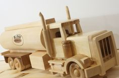 Custom Made wood toy Water Truck  http://www.littlewoodworking.com/