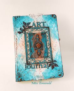 Art Journal cover inspired by Tiffany Solorio #artjournal #mixmedia
