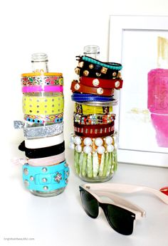 Use Recycled Bottles to display your bracelets | #DIY Projects