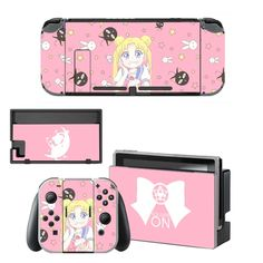 Sailor Moon Decal Nintend Switch Skin NintendoSwitch stickers Compatible for Nintend Switch Console and Joy-Con Controllers Nintendo Switch Package, Buy Nintendo Switch, Nintendo 3ds, Super Nintendo, Nintendo Consoles, Nintendo Switch Accessories, Nintendo Characters, Console Styling, Sailor Moon