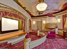 Bargain: The mansion, which includes a sound-proof theatre, has an auction reserve of just 10.3 million