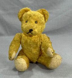 VINTAGE GERMAN STEIFF HERMANN STRAW STUFFED MOHAIR PLUSH TEDDY BEAR ...