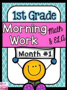 Morning WorkMorning Work: First Grade Morning WorkThis is month #1 out of 10 months of morning work (months 2-10 are currently in the works). Morning work is perfect for when students come in the classroom and you are busy attending to notes from parents, student agendas, etc.