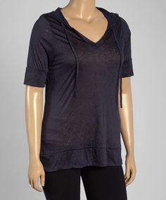 Another great find on #zulily! Nine Iron V-Neck Hoodie - Plus by Marika #zulilyfinds