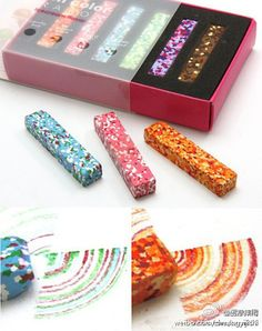 This color chalk is different then any other chalk I have ever seen. Just take a look what kind of drawings you can make using this chalk. This color chalk is different then any other chalk Crafts For Kids, Arts And Crafts, Diy Crafts, Paper Crafts, Color Crayons, Kawaii, Cool Inventions, Color Blending, Te Quiero