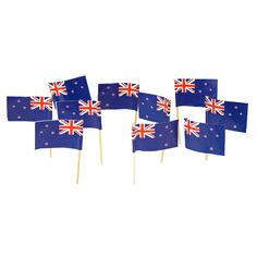 New Zealand Flag Toothpicks | Kiwi | Theme Party Decorations & Supplies