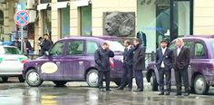 Baku, Azerbaijan's capital, is now rolling in London Taxis. The difference is that they are painted deep purple.
