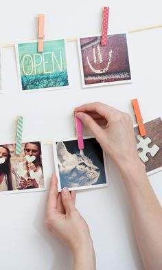 Diy Crafts Ideas     These cool square prints can be made with photos from your Instagram, camera-roll or desktop.    -Read More –