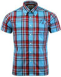 BRUTUS TRIMFIT Mod Heritage Light Blue Check Shirt: http://www.atomretro.com/24874 #brutustrimfit #brutus #brutusshirt #shirt #checkshirt #modstyle #atomretro #mensfashion #mensstyle