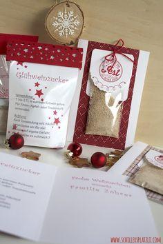 Weihnachten, Glühweinzucker, Verpackung, Geschenk, DIY, Stampin Up, Wein, rot