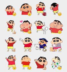 Shinchan 3 Stickers Set | Telegram Stickers