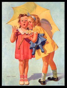 "Vintage 1940's ""You Don'T Say"" Cute Secret Telling Little Girls by Robert Harris   eBay"