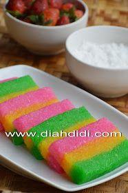 Diah Didi's Kitchen: Lapis Singkong Cake Recipes, Snack Recipes, Dessert Recipes, Cooking Recipes, Snacks, Diah Didi Kitchen, Asian Desserts, Indonesian Food, Pork Loin