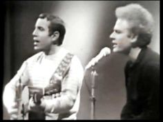 Simon and Garfunkel, I am a Rock, Netherlands, 1966  A golden oldie in black-and-white. Amazing young harmonic voices, recorded just as they started to get  international traction.
