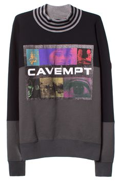 CAV EMPT BLACK FOG PATCH MOCK TURTLENECK Black mock turtleneck sweatshirt featuring black paneling, striped neck, and ribbed cuffs, hem, and neck. 100% cotton. SIZE & FIT Japanese-cut men's sizes. Run small. CAV EMPT Engineered by the enigmatic Bape lead designer SK8THING and the creative director Toby Feltwell, Cav Empt (aka C.E ) is a Japan-based label with a radical cult following.