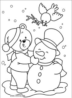 HAppy In Snow Day Coloring Pages - Winter Coloring Pages : KidsDrawing – Free Coloring Pages Online Snowman Coloring Pages, Coloring Pages Winter, Coloring Sheets For Kids, Coloring Pages To Print, Coloring Book Pages, Printable Coloring Pages, Kids Coloring, Free Christmas Coloring Pages, Christmas Colors