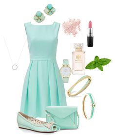"""Mint to be"" by floralooo on Polyvore featuring Kate Spade, Apt. 9, Alexis Bittar, Michael Kors, Ellie, Bare Escentuals, Tory Burch and MAC Cosmetics"