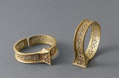 Gold bracelets from Iran, ca 11th-12th century.