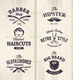Barber Shop Vector Logos Free » Tinkytyler.org - Stock Photos ...