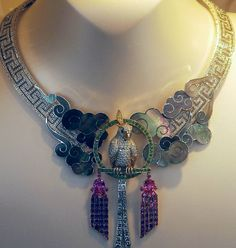 VanCleef and Arpels Necklace: Gold, Platinum, Ruby, Diamond, Enamel with multi gems