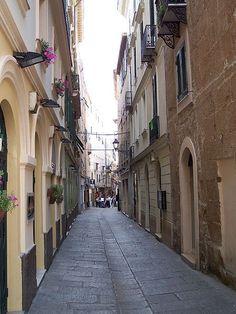 Alghero Old town street