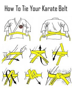 Suit up properly for a karate or judo class. | Here's How To Tie Anything And Everything