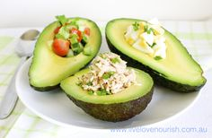 Avocado Boats - What's Your Style? Avocado Boats are a Nourishing low-carb snack or light lunch that is rich in healthy fat, fibre, vitamins and minerals giving your body a nutrient boost. Simply cut your Avocado in half and remove the seed. Fill the hole with your favourite fillings such as:  - Fresh Tomato and Herb Salsa  - Tuna and Fresh Herbs - Hard boiled and diced Eggs with Spring Onions  Dress with fresh Lemon Juice and Cracked Pepper.   www.livelovenourish.com.au