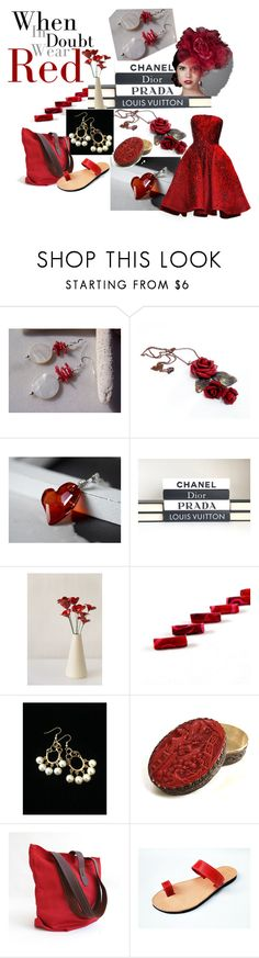 """""""When in Doubt Wear Red!"""" by inspiredbyten ❤ liked on Polyvore featuring Ferrari, Elie Saab, Bibi and vintage"""